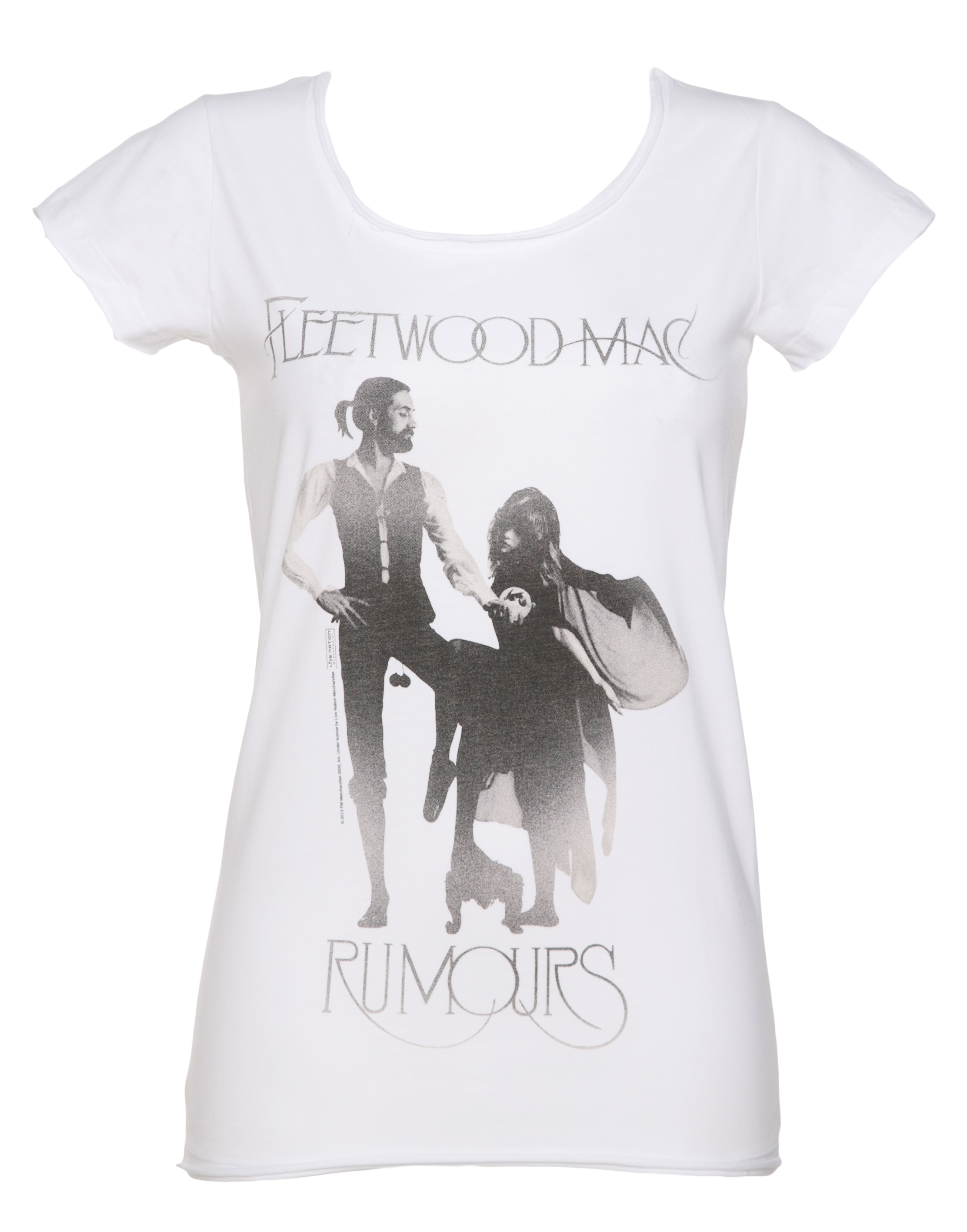 Women 39 s white fleetwood mac rumours t shirt from amplified for Apple shirt screen printing