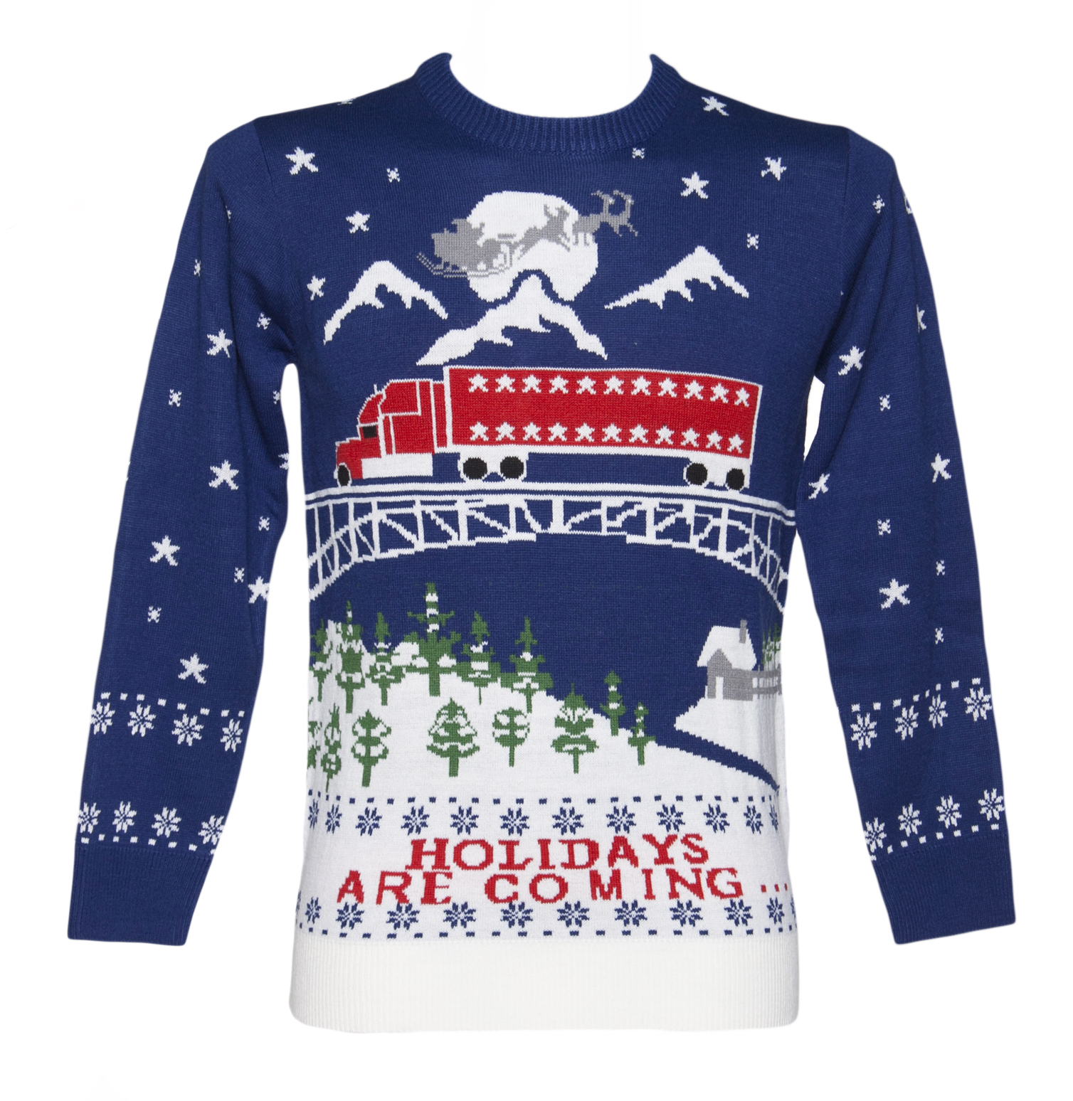 Unisex Holidays Are Coming Christmas Jumper from Cheesy Christmas Jumpers