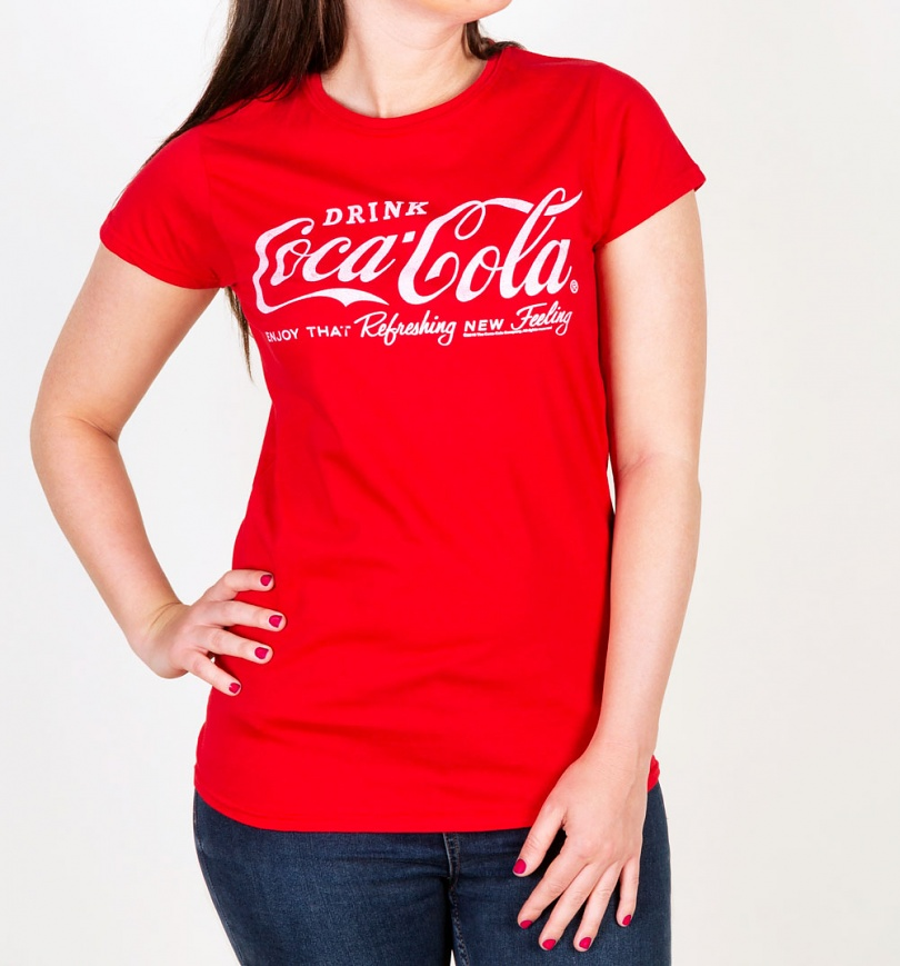 Women's Drink Coca-Cola Logo Fitted T-Shirt